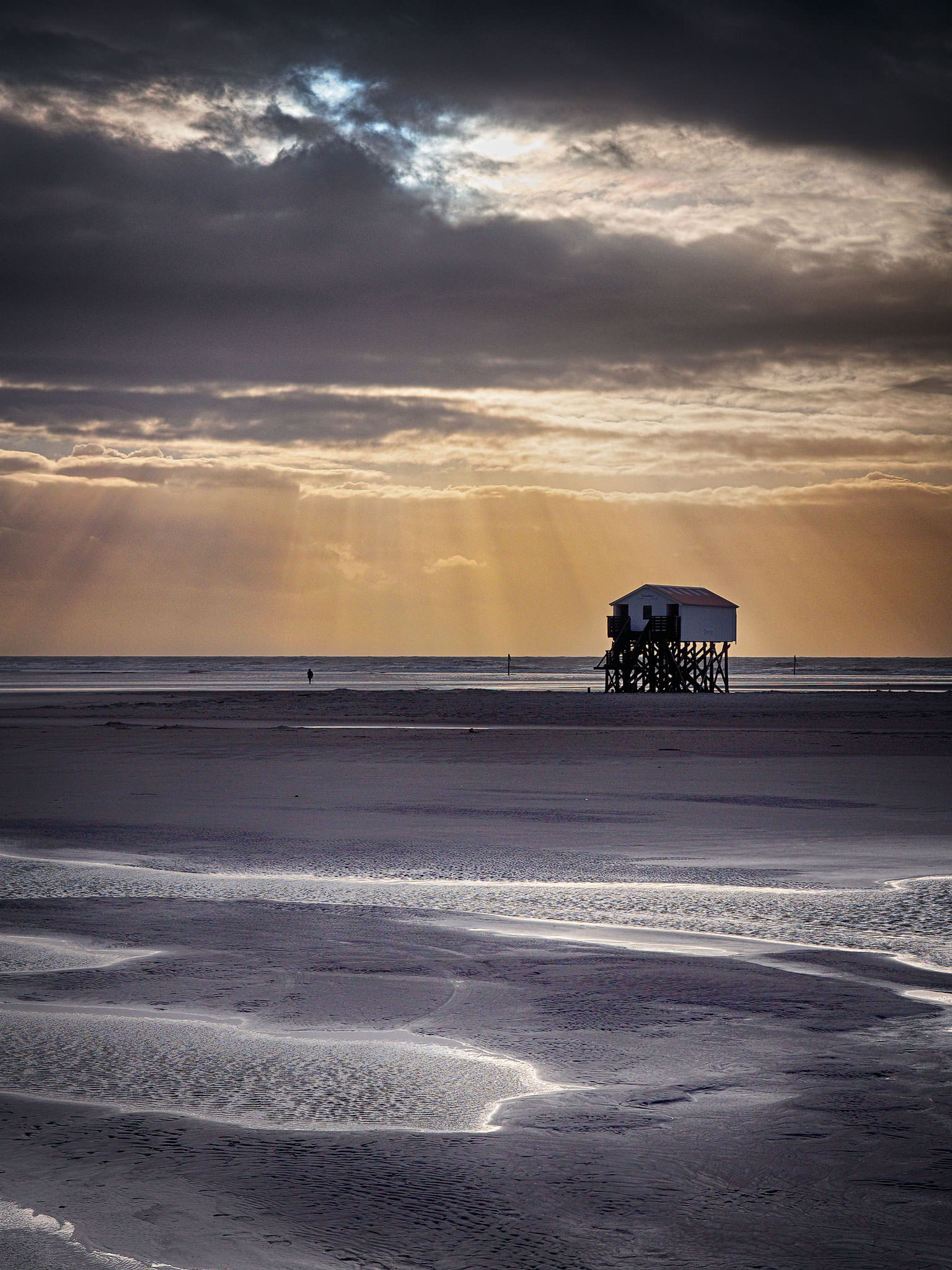 fotos st peter ording besuch im winter gdgts. Black Bedroom Furniture Sets. Home Design Ideas