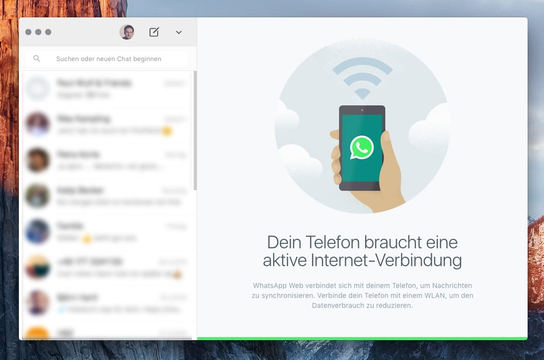 WhatsApp Windows OS X 2